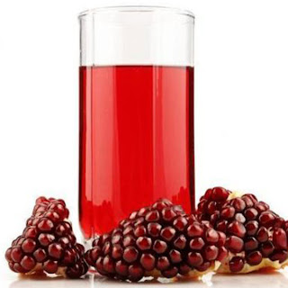 Cooling Rose & Pomegranate Juice.