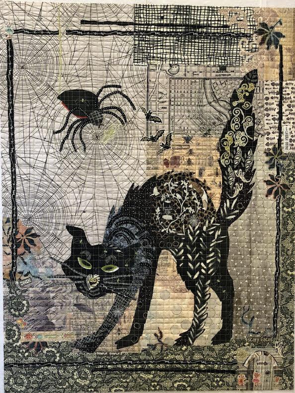 Black Cat Collage mönster (16231)