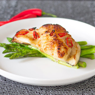 Bourbon Glazed Chilean Sea Bass.