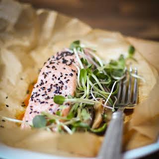 One-Pan Sesame Salmon With Shiitake Mushrooms.