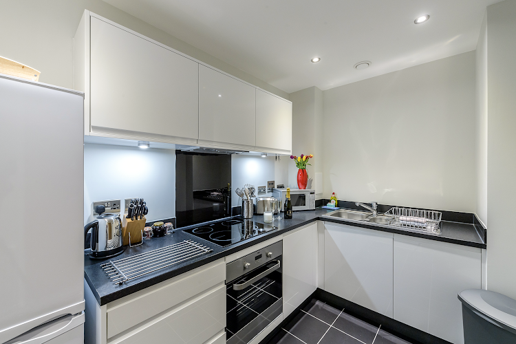 Kitchen at Colindale apartment