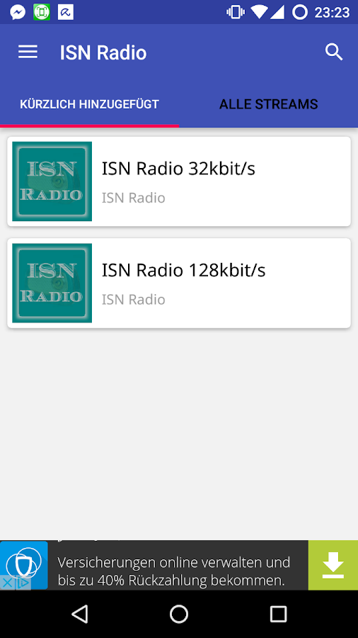 ISN Radio- screenshot