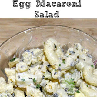 Easy Deviled Egg Macaroni Salad.