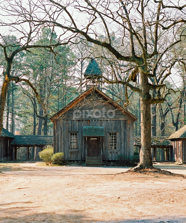 Berry College Possum Trot School by Rebecca McAllister - Buildings & Architecture Public & Historical