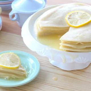 Vegan Lemon Crepe Cake.