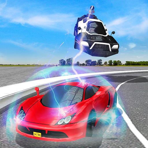 Flying Police Electric Car Sim