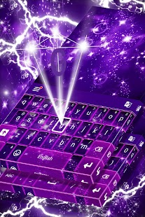 Purple Glitter Keyboard - náhled