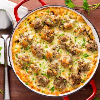 Baked Macaroni & Meatballs Recipe