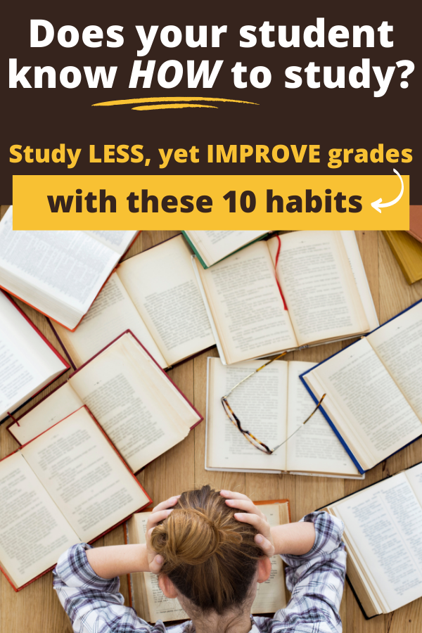 10 study habits for students
