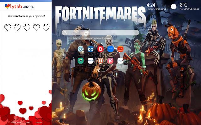 Fortnite Halloween Skins New Tab Hd Wallpaper