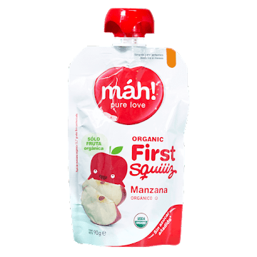 Compota Orgánica Máh Manzana 90g