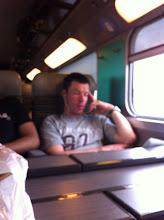 Photo: Dans le train du retour, Eric a du louper quelques minutes de son film ...