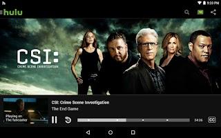 Screenshot of Hulu