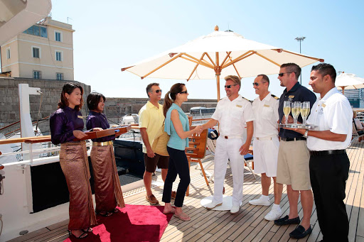 Seadream-captain-welcome.jpg - Join the captain in a welcome reception on SeaDream II.