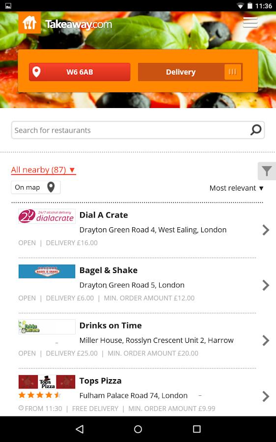 Takeaway.com - Order Food - screenshot