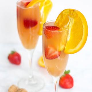 Strawberry Kombucha Mimosa.