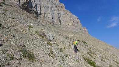 Photo: North through talus slope.