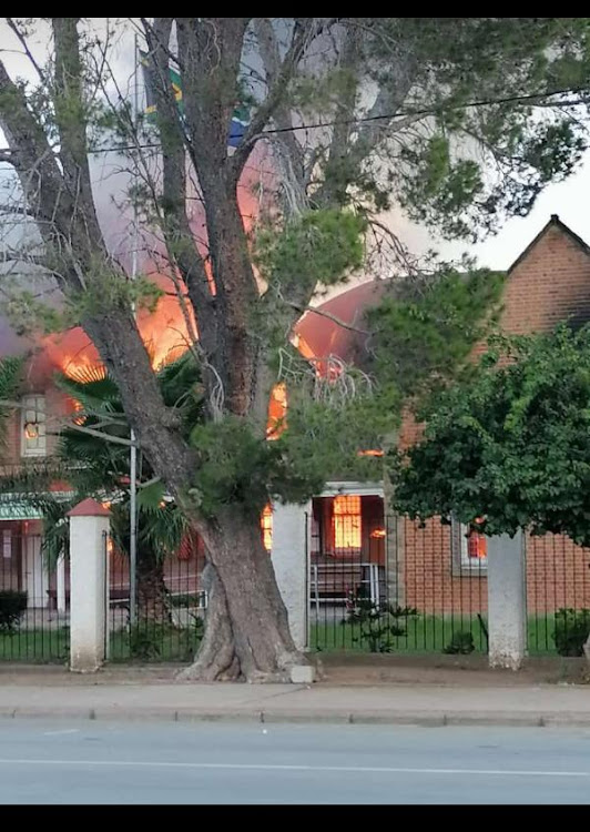 The Alice magistrate's court was destroyed by fire on Friday.