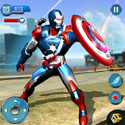Flying Robot Captain Hero City Survival Mission