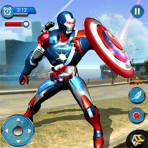 Flying Robot Captain Hero City Survival Mission for PC