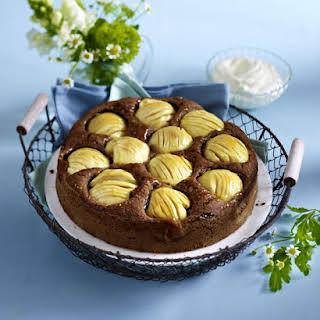 Sunken Apple and Chocolate Cake.