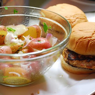 Turkey Burgers and New Potato Salad