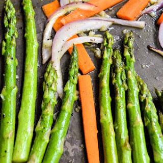 Honey Garlic Carrots and Asparagus Recipe