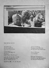 "Photo: Plakat zur Fotoausstellung ""Drei Bildermacher"" Studiengalerie Max Bense 42 x 58 cm DIN A2  © Jonnie Doebele, 1976 all rights reserved"