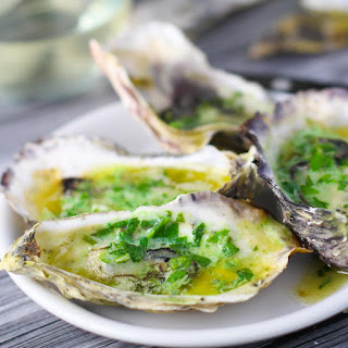 Grilled Oysters with Habanero Butter.