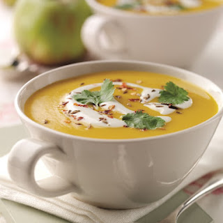 Spiced Carrot, Bramley Apple and Lentil Soup