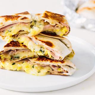 Ham, Egg, and Cheese Breakfast Quesadilla