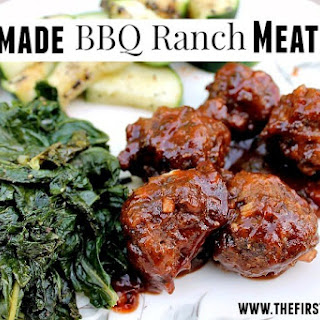 Homemade BBQ Ranch Meatballs