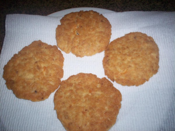 After mixing well, shape into patties. Fry till golden brown, flip and brown the...