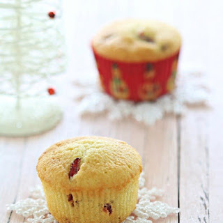 Cranberry Butter Cupcakes.
