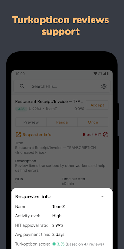 Turkdroid - Mturk Client for Workers 1.4.7 screenshots 5