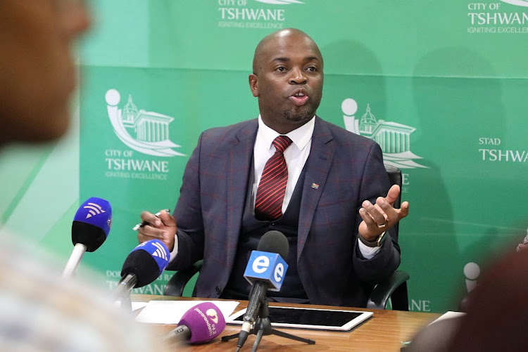 Tshwane mayor Solly Msimanga.