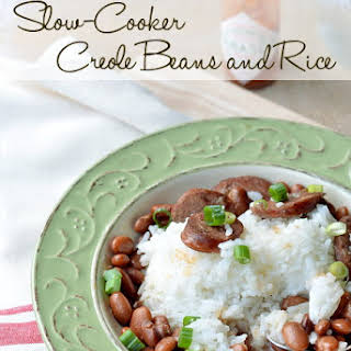 Slow Cooker Creole Pinto Beans and Rice.