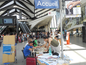 Photo: gare Saint-Exupéry 24 juillet