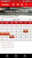 Screenshot of Australia Calendar 2016