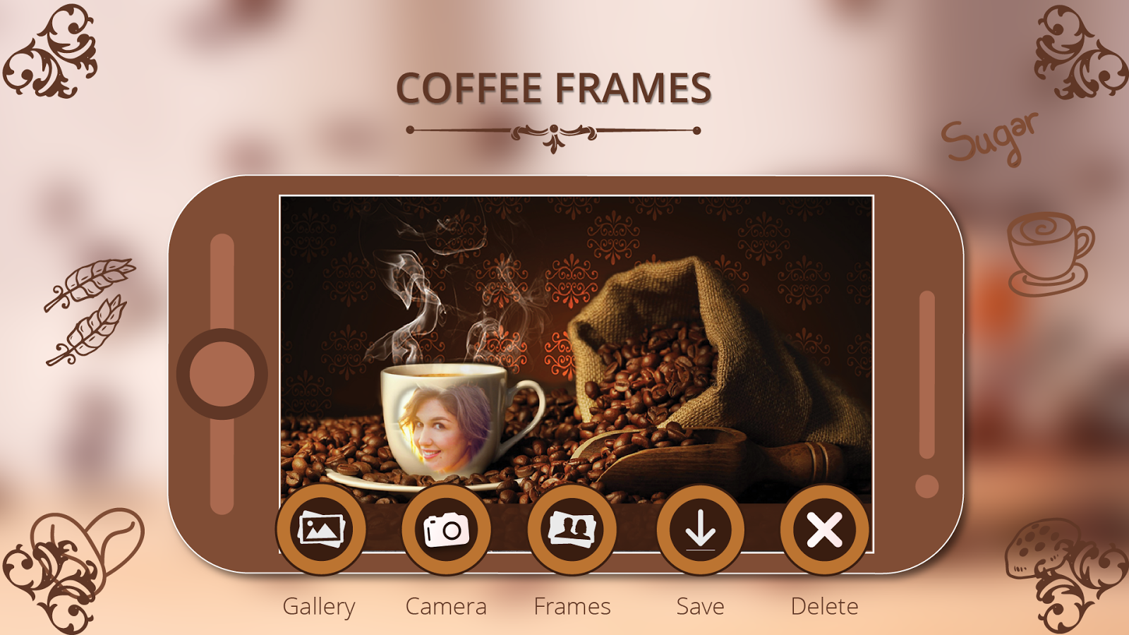 Coffee cup frames - Coffee Cup Photo Frame Free Screenshot