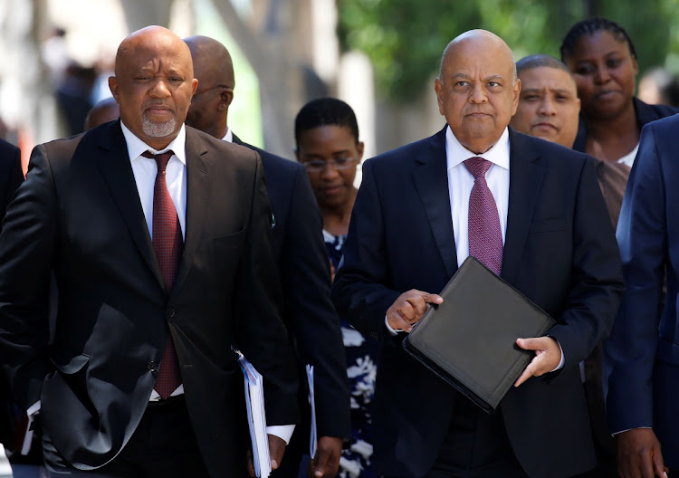 Finance minister Pravin Gordhan and his deputy Mcebisi Jonas. Picture: REUTERS/MIKE HUTCHINGS