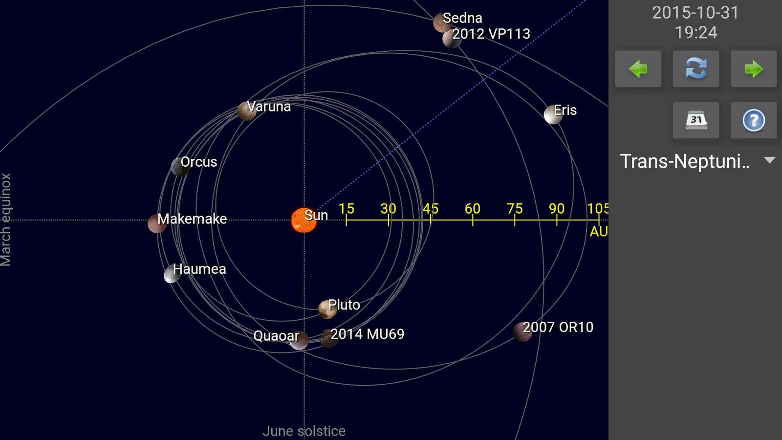 map of sun and planets - photo #14