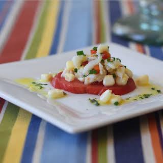 Corn, Crab and Tomato Salad.