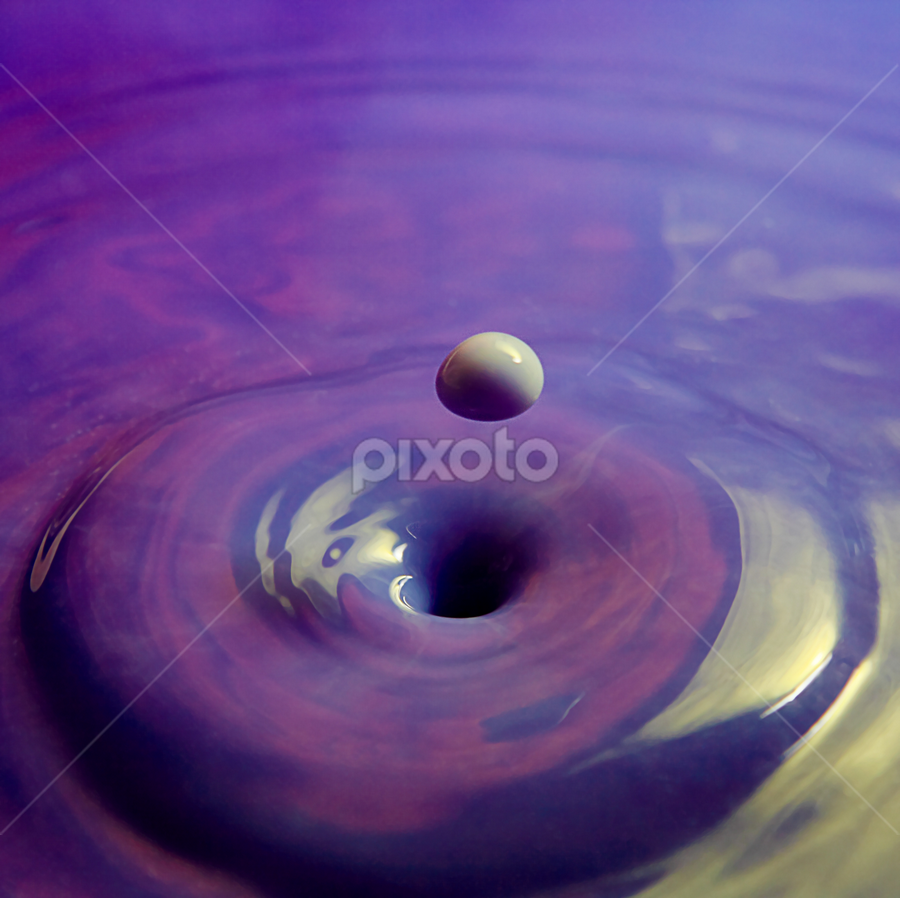 Nature's Golf. by Taariq Haneef - Abstract Water Drops & Splashes ( water, abstract, new, color, drop, milk, relevant, cream )