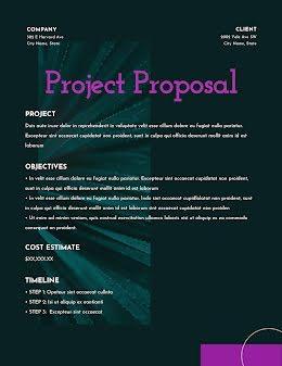 Positive Proposal - Project Proposal item