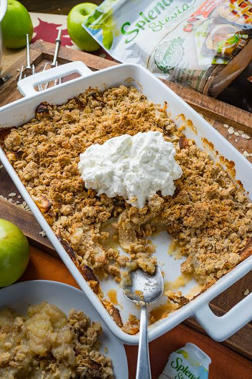 """Easy No Sugar Added Apple Crumble """"It is absolutely amazing and it..."""