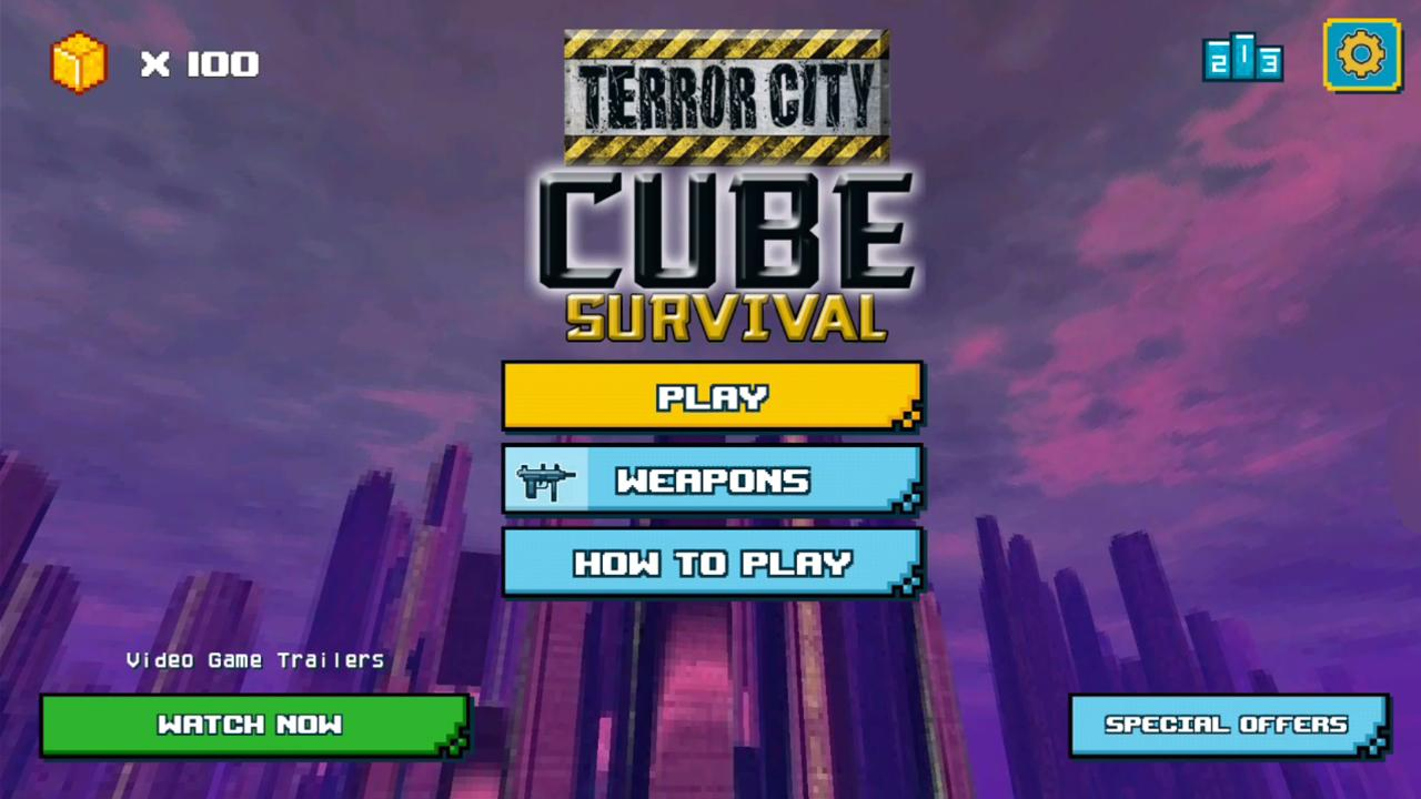 Terror City Cube Survival- screenshot