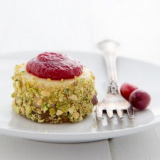 Mini Cranberry Pistachio Cheesecakes.