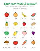 Fruit & Veggie Spelling - Worksheet item