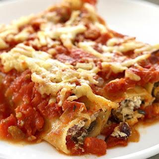 Chorizo, Mushroom and Ricotta Cannelloni